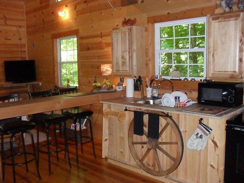 Mountain Cabin, Hiawassee Ga 2 Bdr, 2 Ba, w/ Loft, Trout Strm, App Trail,  falls, aluguéis de temporada em Hiawassee