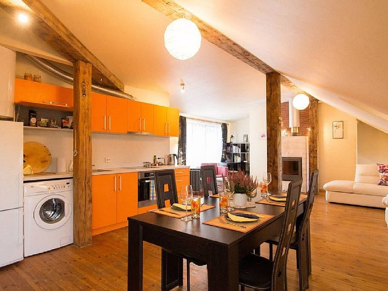 Rustic Penthouse In Old Town Riga, vacation rental in Riga Region