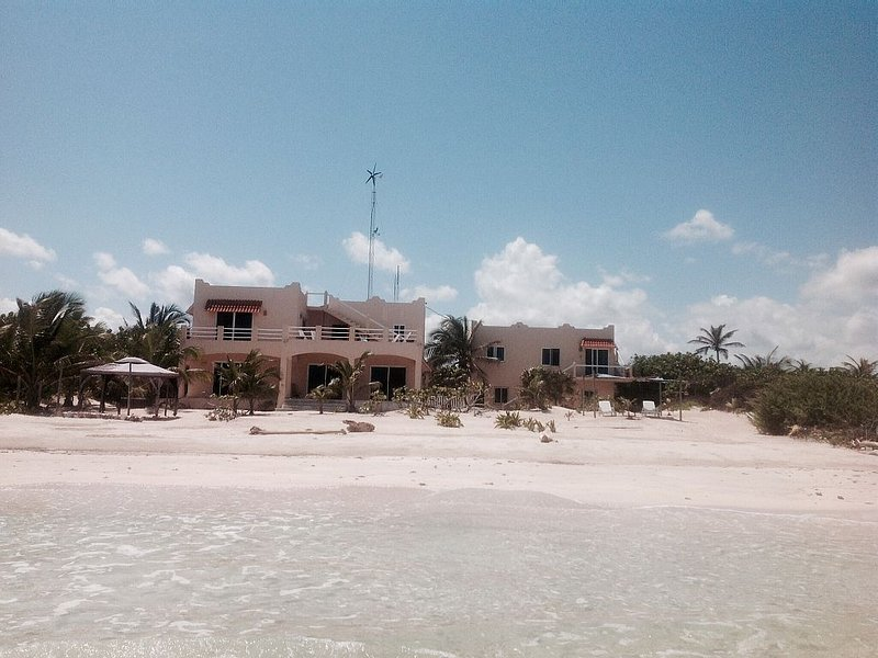 View of Casa Bella from the water. The casita is on the right.