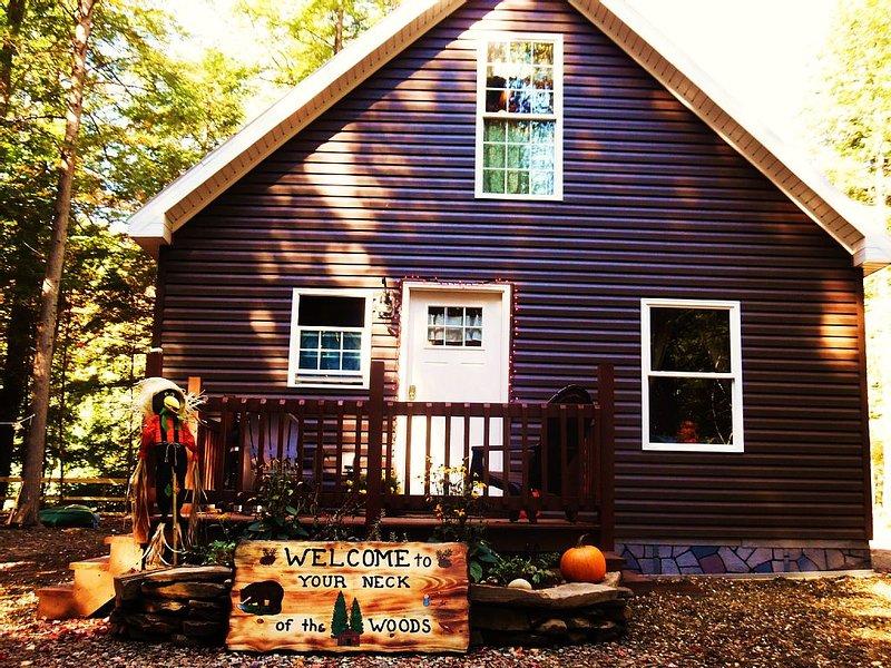 'Your Neck of the Woods' Cabin Rental: Peaceful Get-away Overlooking Fish Creek, vacation rental in Oneida