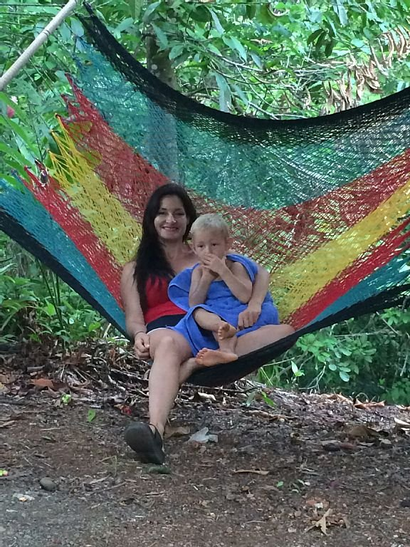Find your favorite hammock and chill with the local monkey!