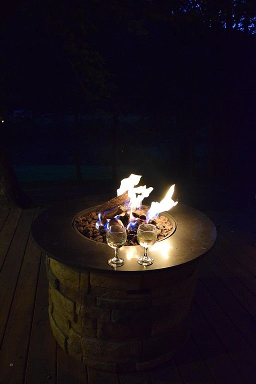 ... or romancing evenings by the fire, listening to the river.
