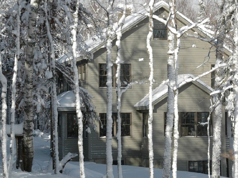 Ski in/ski out, trailside just above midstation, ride the lift/ski the crosscut, vacation rental in North New Portland