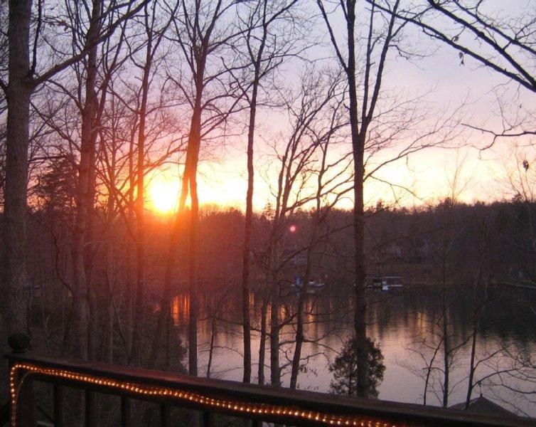 Sunset at Lake Cabin Retreat
