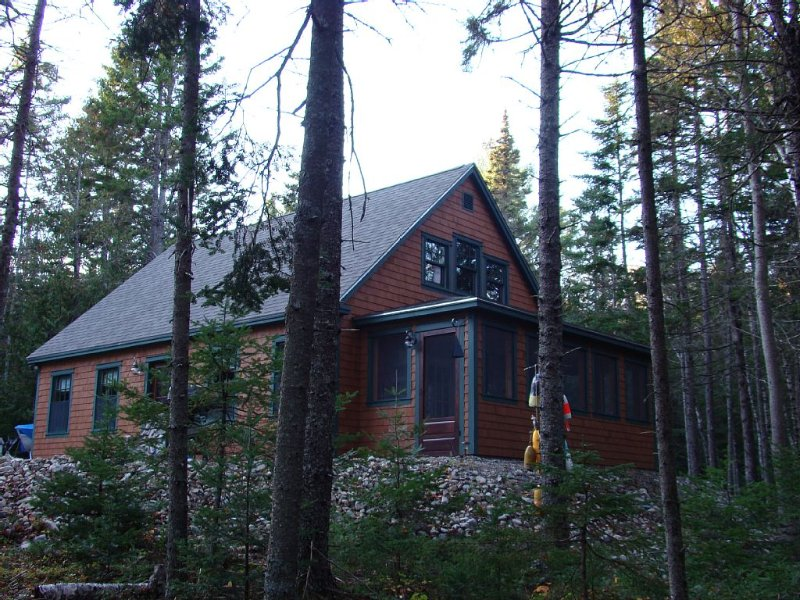 Pyne Cove Cottage newly built in 2011 to blend in naturally with the surrounding