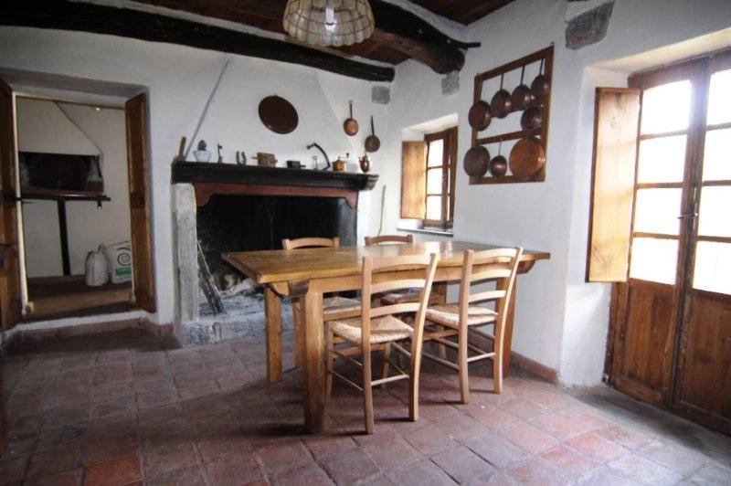 Antica casa in paese, nel verde, attrezzata di tutto, per coppie o famiglie di 5, vacation rental in Giucano