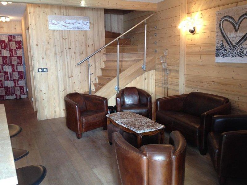 Beau duplex familial - élégant, confortable et chaleureux  aux pieds des pistes., alquiler vacacional en Les Deux-Alpes