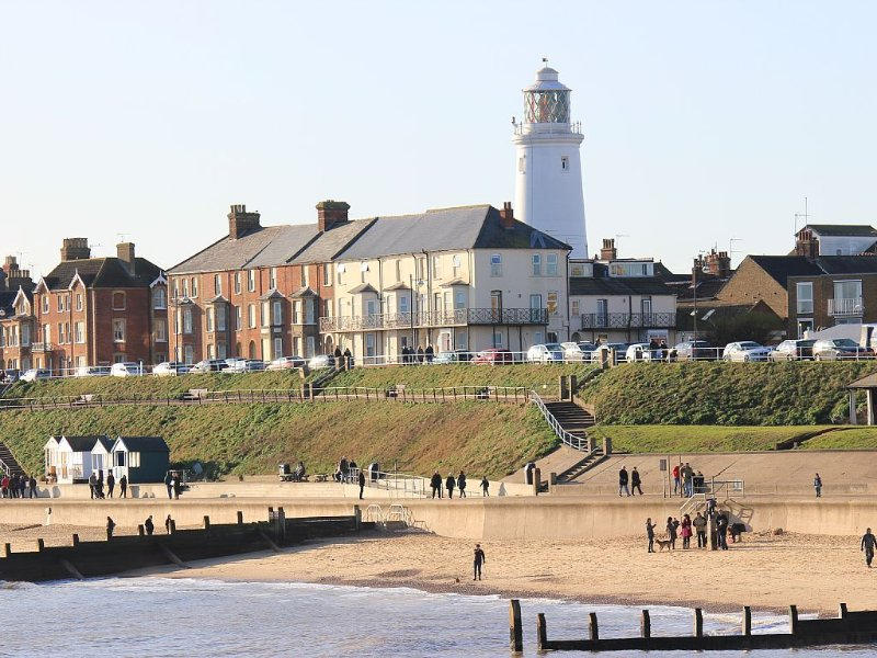 View of Southwold beach from the pier