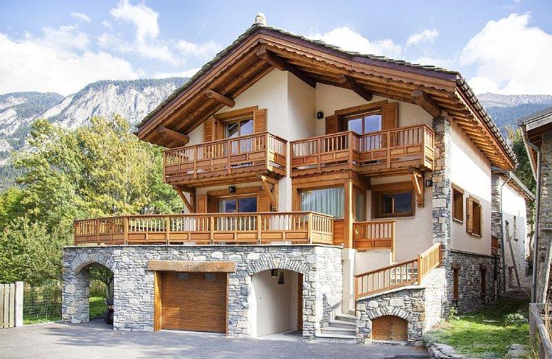 Chalet indépendant de standing  Sollières-Val Cenis, WIFI, sauna, garage couvert, alquiler de vacaciones en Val-Cenis