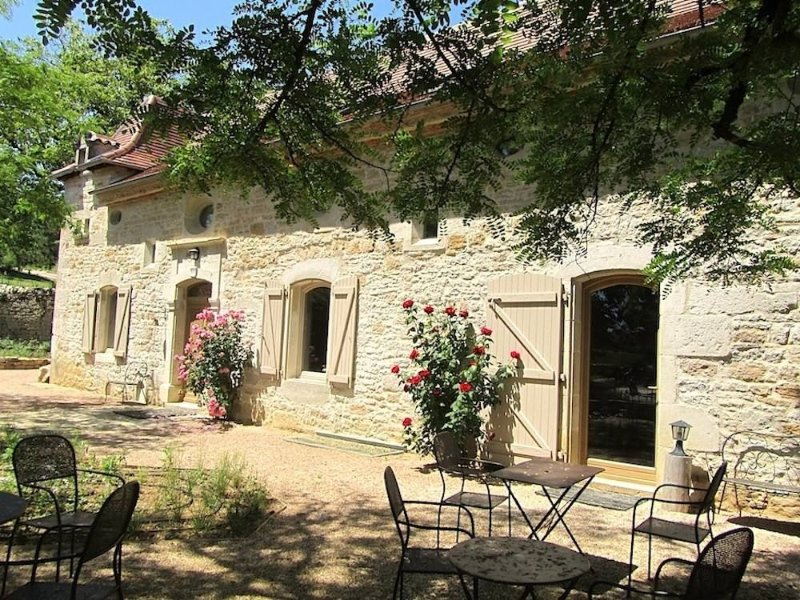 Site remarquable  dans le Lot, vue panoramique, 20 pers, baignade naturelle, holiday rental in Le Bourg