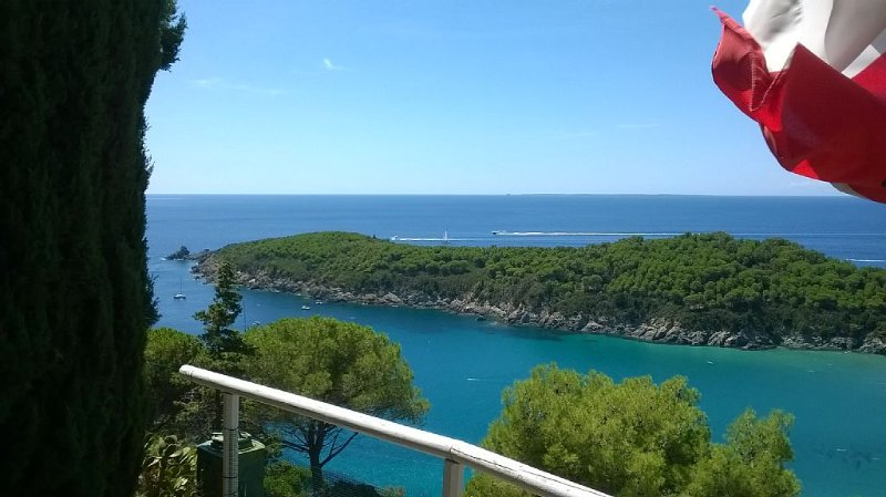 Villa a Fetovaia con splendida vista mare ,  a 200 mt dalla spiaggia , parco, vacation rental in Pomonte