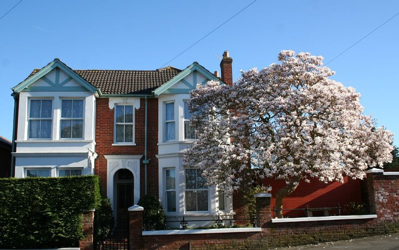 Green Bank classic Victorian villa with magnolia in full bloom
