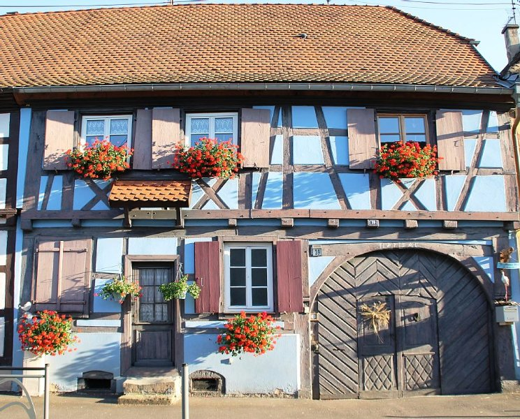 Gîte classé '3 étoiles' à proximité des plus beaux sites touristiques d'Alsace, vacation rental in Ebersmunster