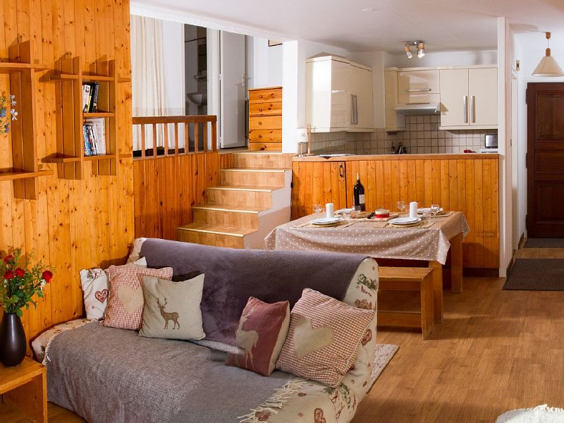 Spacious apartment in a great location, location de vacances à Haute-Savoie