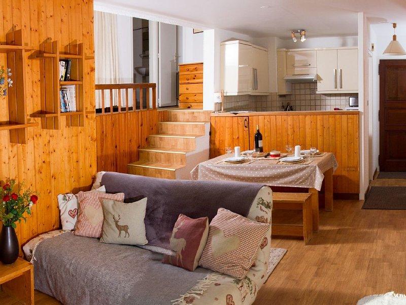 Spacious apartment in a great location, aluguéis de temporada em Haute-Savoie