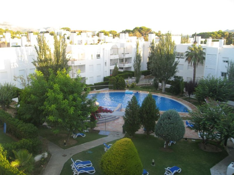 View of our apartment and pool