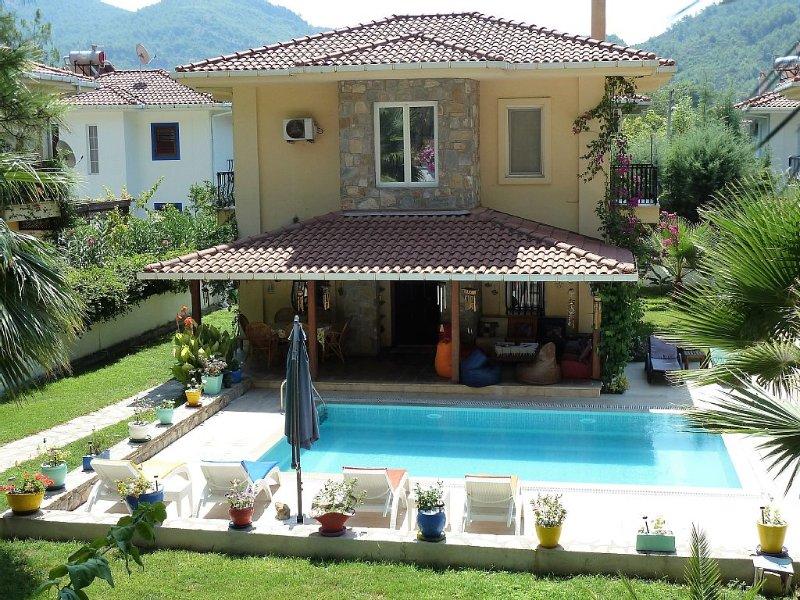 Villa With Private Swimming Pool In Exclusive Gocek Resort, vacation rental in Gocek