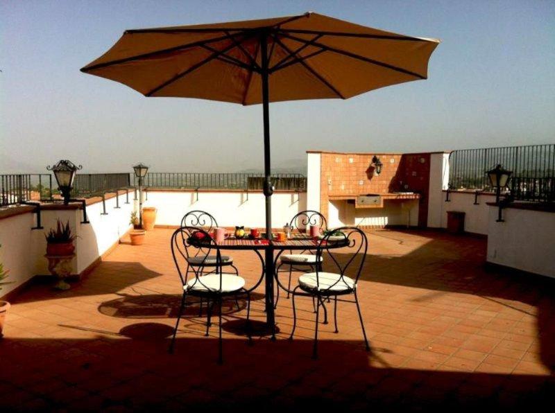 Paterno: Sicilia, splendida mansarda terrazzata, vista su castello normanno e Et, holiday rental in Adrano