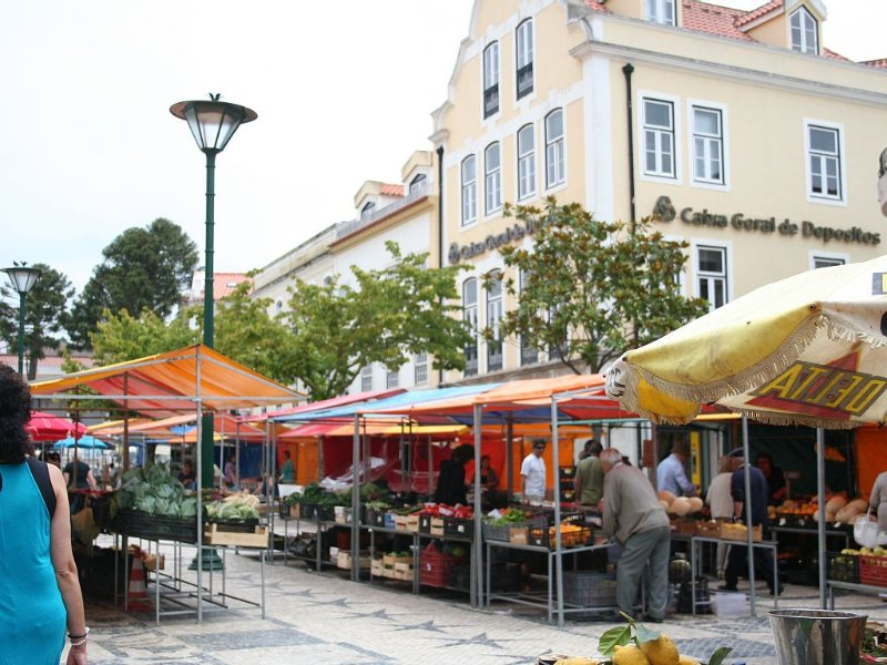 Daily fruit, cheese, nut, flower and local crafts market in Caldas da Rainha