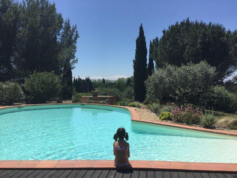 Villa de charme indépendante dans un parc avec piscine, holiday rental in Beziers