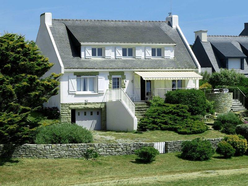 Maison vue sur la plage et l'océan à saint Gildas de Rhuys, location de vacances à Morbihan