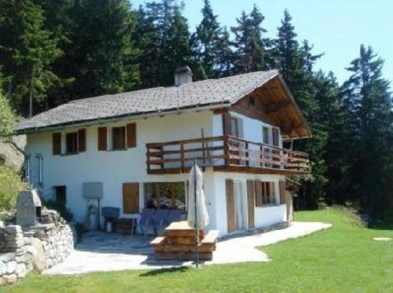 Grand chalet indépendant avec spa extérieur et vue panoramique, tout confort., location de vacances à Valais