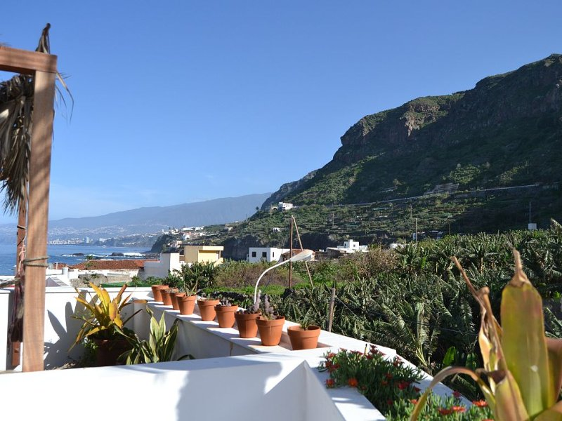 Villa in Tenerife, 80 meters from the ocean, solarium, wifi, exotic architecture, holiday rental in La Guancha