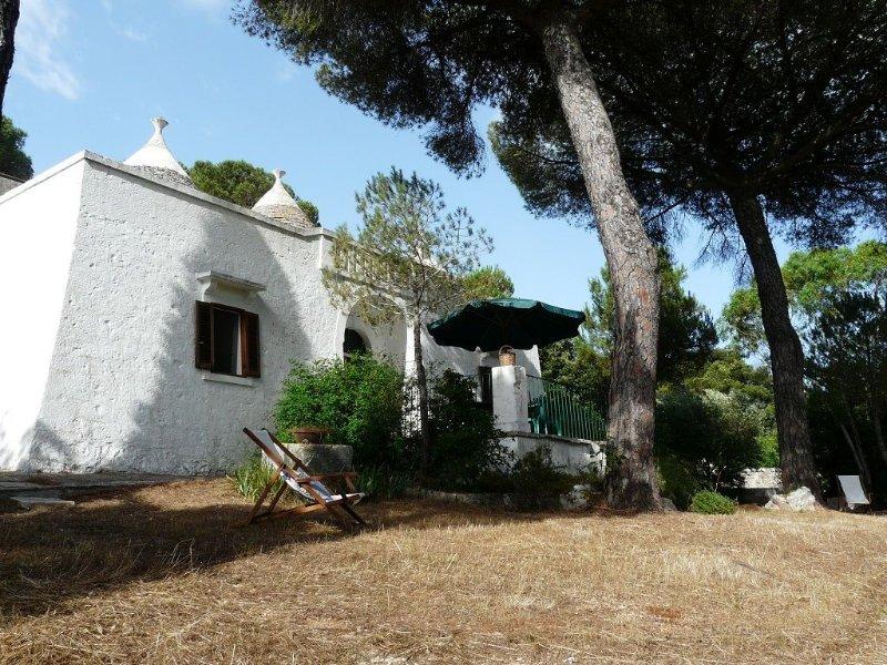 Selva Di Fasano: trullo con pineta in Valle d'Itria, holiday rental in Selva
