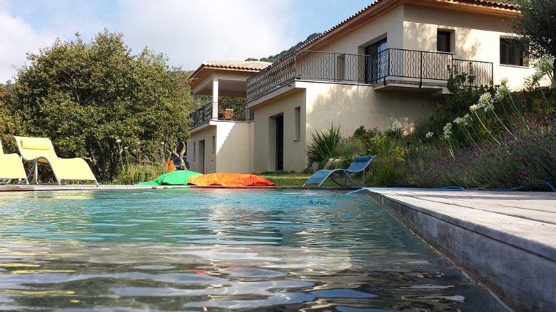 Maison  d'exception au calme vue magnifique, location de vacances à Sollacaro