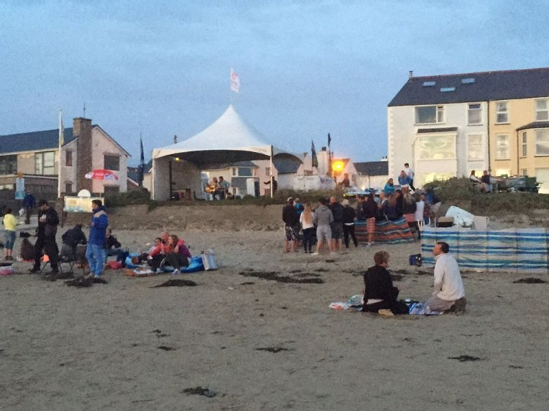 Band on the beach, August bank holiday