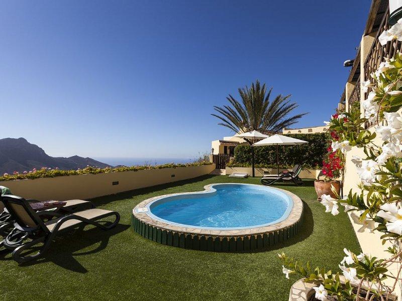 Rural Villa Furnished To High Spec, Solar Heated Pool, Jacuzzi, Fantastic Views – semesterbostad i Arona