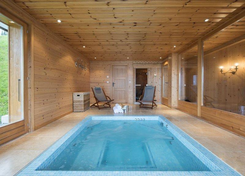 Luxury Swiss Chalet  with Outstanding Views, Located 50m from Piste, location de vacances à Alpe des Chaux