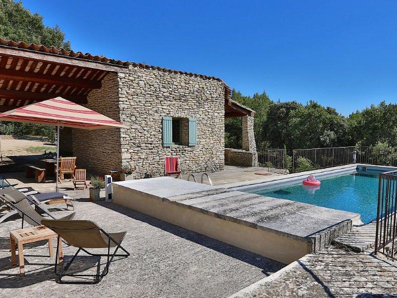 Mas en pierres sèches sur 2,5 hectares d'environnement protégé-vue sur Luberon, aluguéis de temporada em Gordes