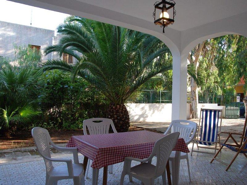 La Villa 'Azzurra' grande e spaziosa con la bella veranda ed il verde giardino, holiday rental in Salmenta