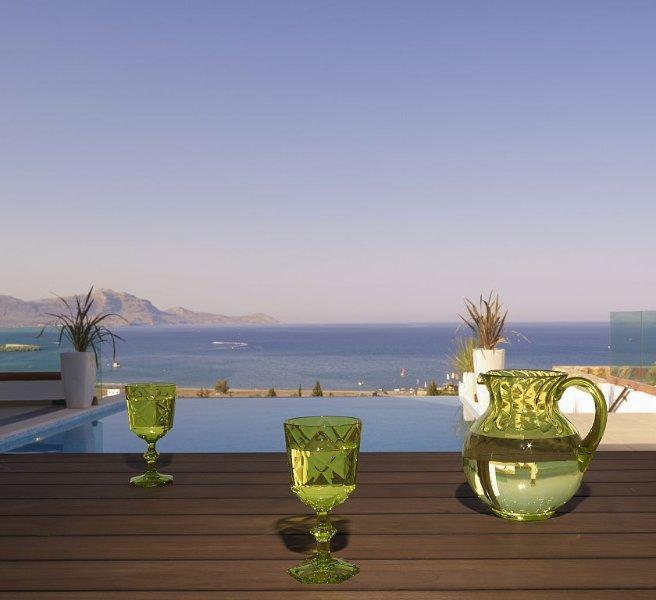 Location Villa à Lindos - Villa Eos avec piscine à débordement privée chauffée