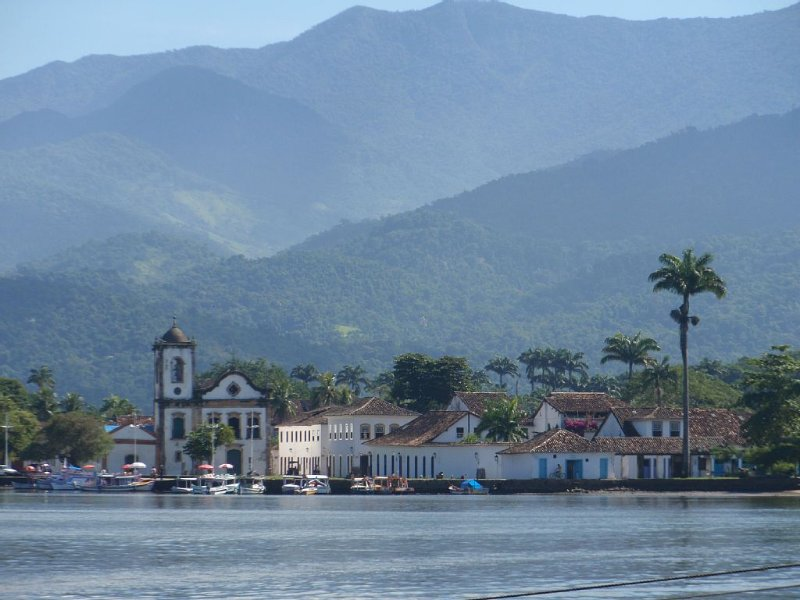 Arriving back in Paraty after a boat trip