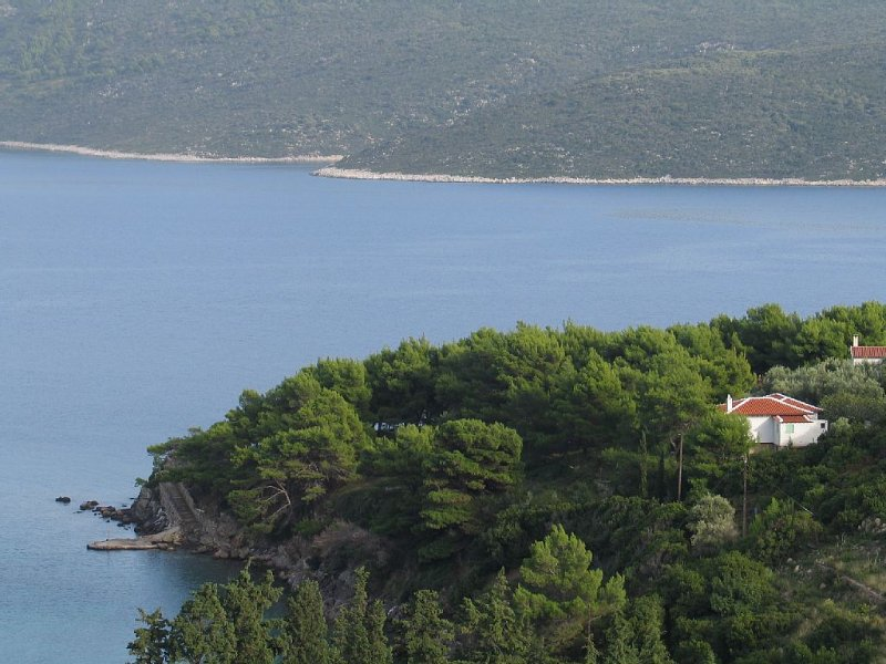 The Vilavala amongst the pine trees next to the sea