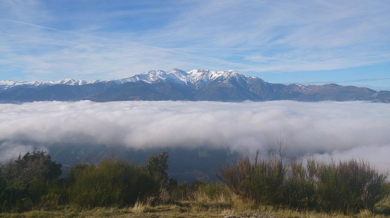 Canigó from the Pic du Belmaig on our property. Beautiful for hiking.