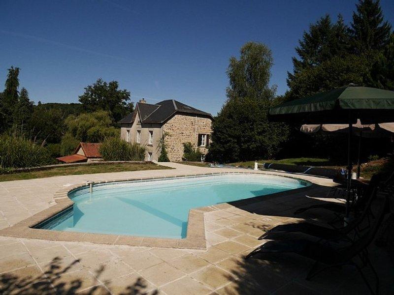 Manoir 4* met privé zwembad en (vis)meer op ca 4 ha parktuin, vacation rental in Neuvic-Entier
