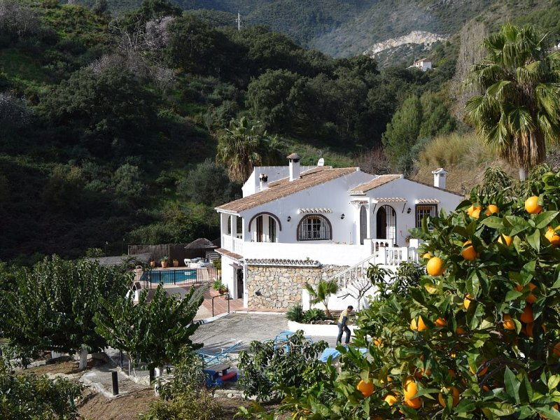 Confortable charming family house private pool near the sea Ojen andalusian town, holiday rental in Monda