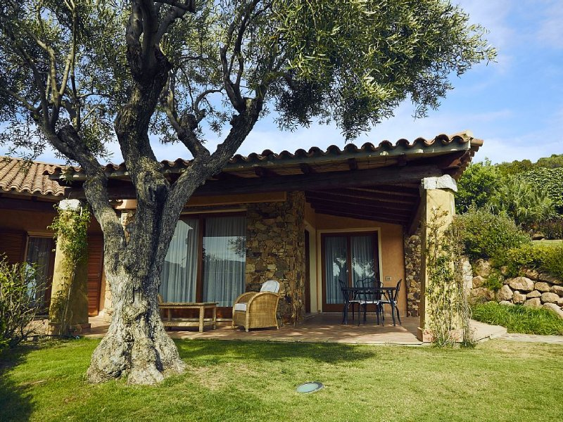 Stunning luxury villa with private garden 300mt from the beach, holiday rental in Setti Ballas
