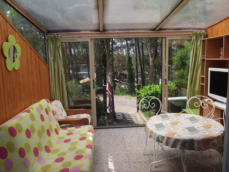 villa patio 'Océane' dans les pins agréable calme climatisée jardin wifi, alquiler de vacaciones en Landes