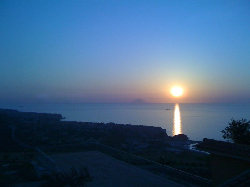 Watch the sun set from the terrace