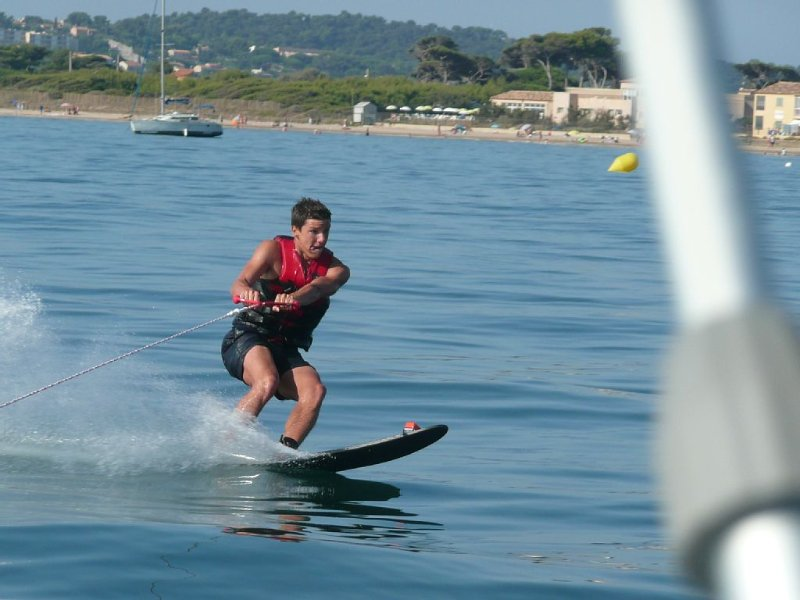 Water ski session in front of the beach (Option)