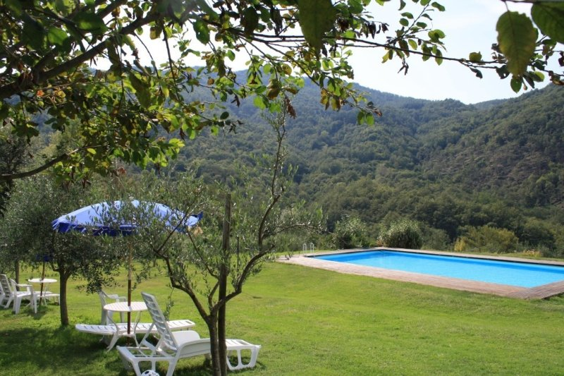 Independent stone built villa, originally a medieval watch tower, near Florence, vacation rental in Londa