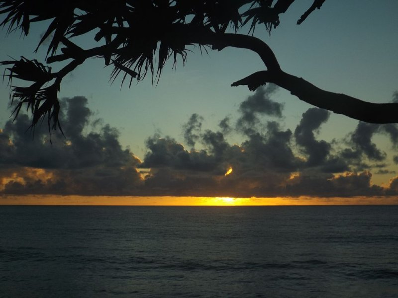 L'est permet d'observer les plus beaux Levers de soleil sur l'océan indien