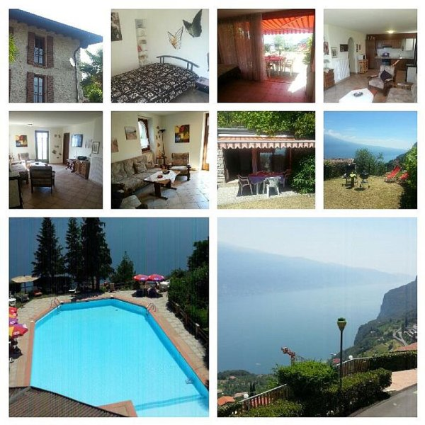 Fewo 'Rustico' am Gardasee/Limone,Garten 70 qm,5 Pers m. Pool Zugang, Außsicht, holiday rental in Lake Garda