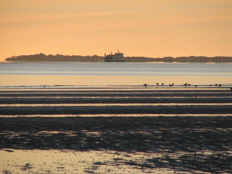 Abendstimmung am Südstrand mit Blick auf Amrum