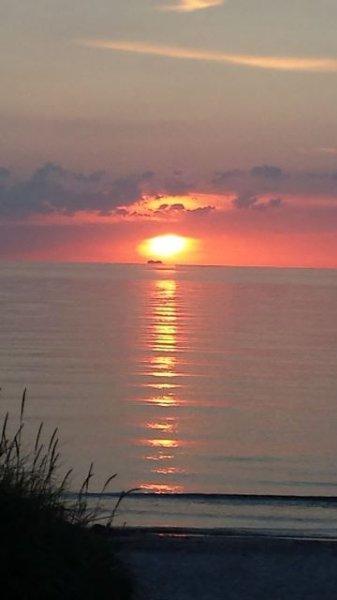 Kvällstemning på Östersjön - solnedgång i Dierhagen