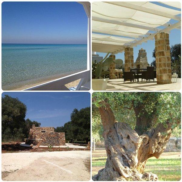 Stilvolle Villa mit tollem Blick über Olivenhaine aufs ionische Meer, Ferienwohnung in Torre Colimena